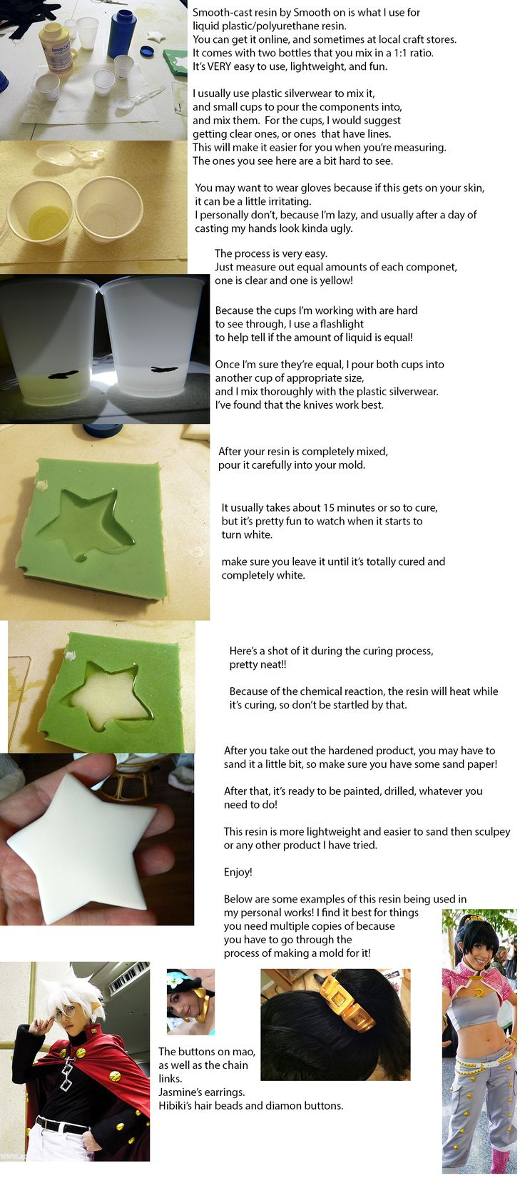Liquid plastic (resin) tutorial by IchigoKitty.deviantart.com on @DeviantArt