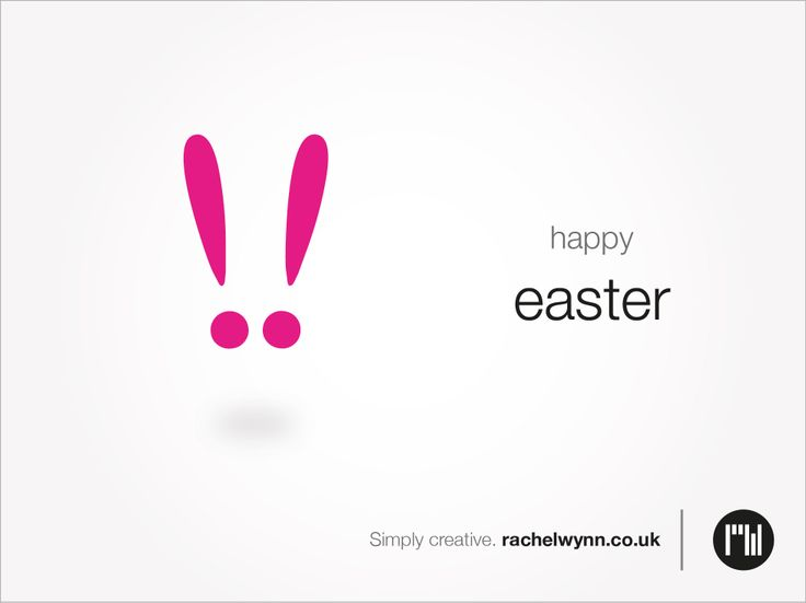 Self Promotion: Adcept: Happy easter. Simply creative. rachelwynn.co.uk
