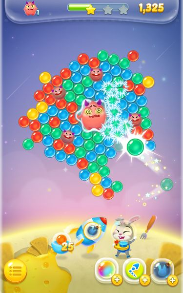 Bubble spinner : space bunny v1.0.6 [Mod]   Bubble spinner : space bunny v1.0.6 [Mod]Requirements:4.0.3 and upOverview:Ronny the bunny managed to launch himself up above the space as he encounters tons of bubbles on his way!  Destroy the bubbles and make ways for Ronny to make him travel further from a planet to another!  HOW TO PLAY  Slide across the screen to help Ronny aim his bubbles!  Matching over 3 same colored bubbles causes them to pop!  The bubble shoot automatically as your tap…
