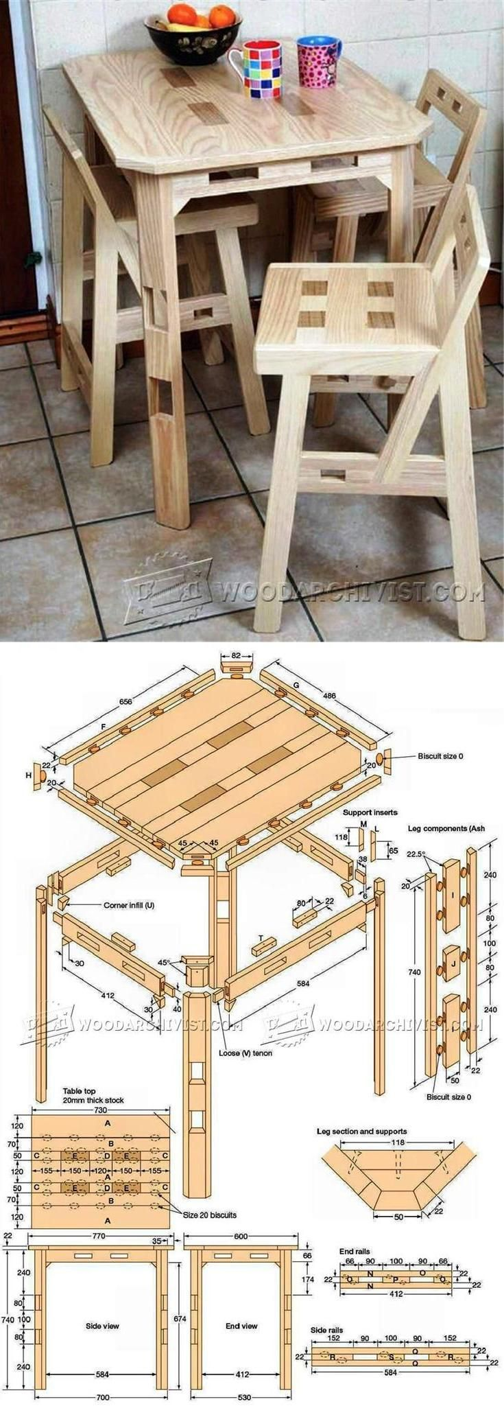 Library chair plans - Kitchen Table Plans Furniture Plans And Projects Woodarchivist Com