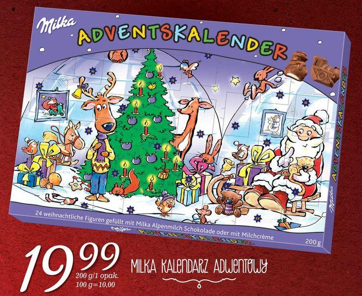 Pamiętacie to z dzieciństwa? Kalendarz adwentowy z czekoladkami na każdy dzień :)). Kto wyjadał z wyprzedzeniem i bał się potem rodziców? Milka zrobiła swoją wersję tej oldschoolwej bombonierki, jest dostępna w Lidlu: http://www.promocyjni.pl/gazetki/12005-rozkosz-dla-podniebienia-gazetka-promocyjna