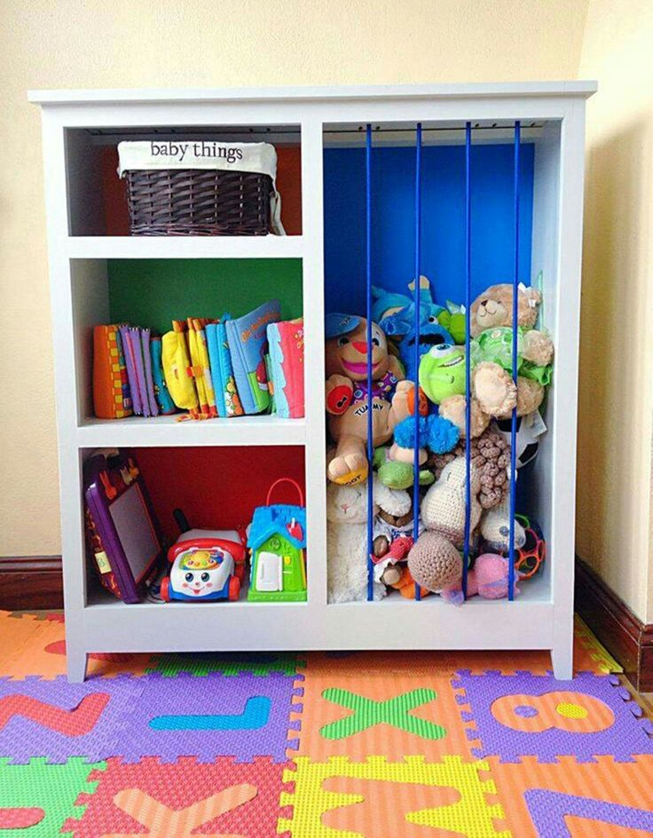 Book case and stuffed animal storage