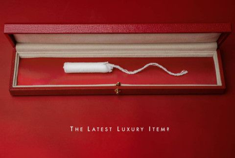 This ad campaign perfectly takes the piss out of the tampon tax