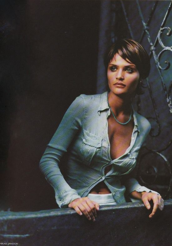 """""""Our woman in Havana""""  Helena Christensen by Mikael Jansson - Vogue UK March 1994."""