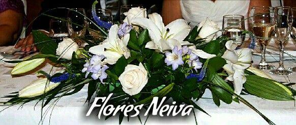 Centro de mesa flores neiva 3153335017