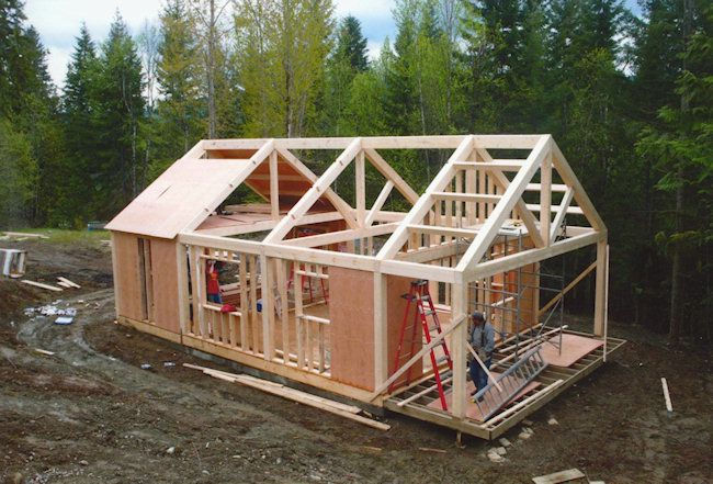 Small post and beam cottages post beam timberframe for Post frame homes plans