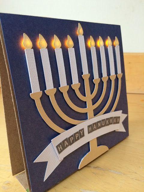 Hanukah light up card with chibitronics goldiecar designs DIY LED paper circuit STEM