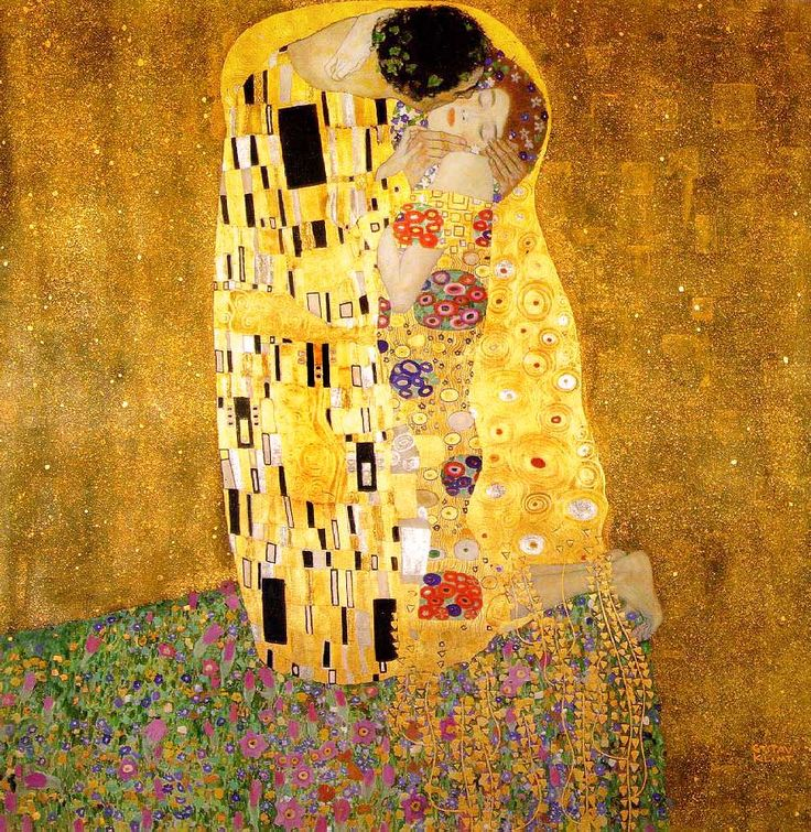 the kiss gustav klimt - Google Search