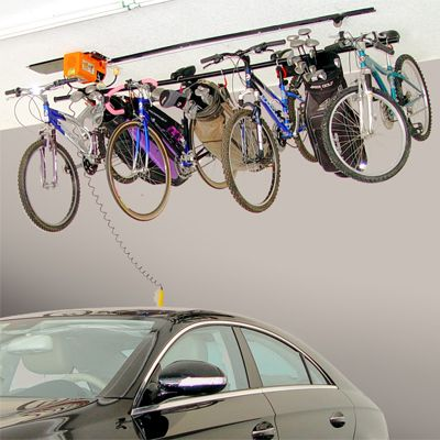Bicycle Overhead Storage Overhead Bike Lift Ideas For