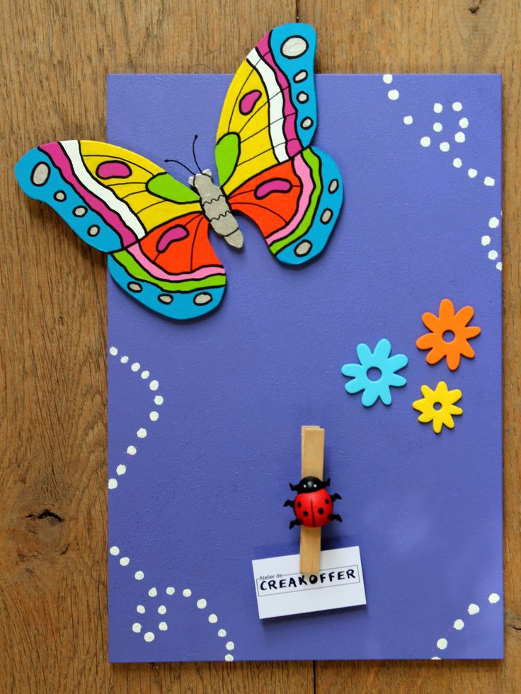 Butterfly memoboard by Atelier de Creakoffer / Vlinder memobord door Atelier de Creakoffer