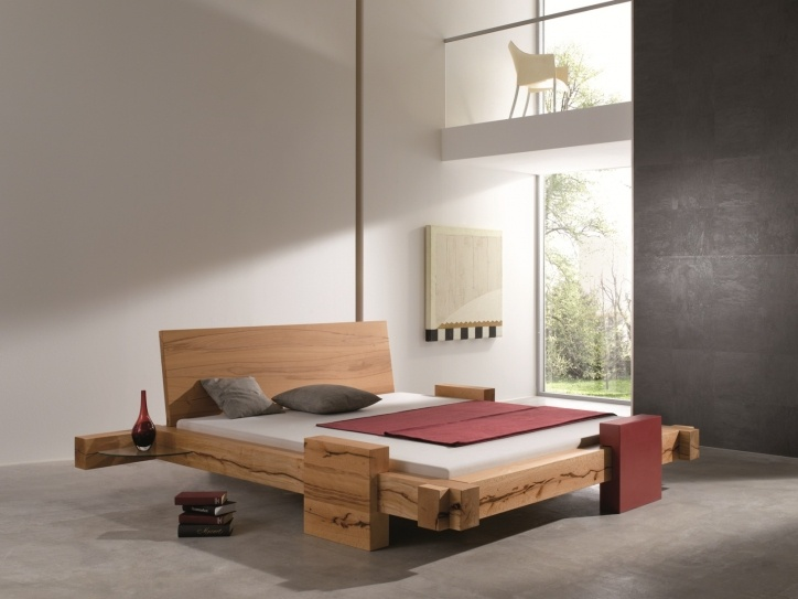 BALKENBETT Hornungsburg   Modern Wood Bed Design