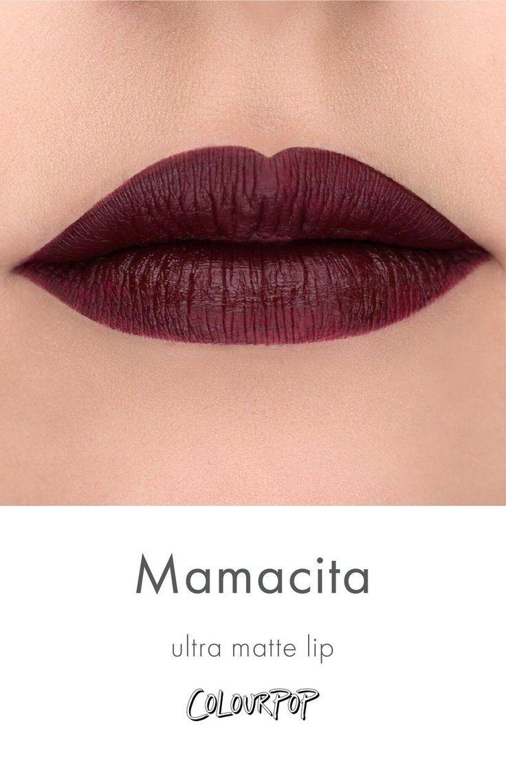 iluvsarahii Mamacita deepened burgundy Ultra Matte Lipstick swatch on fair skin