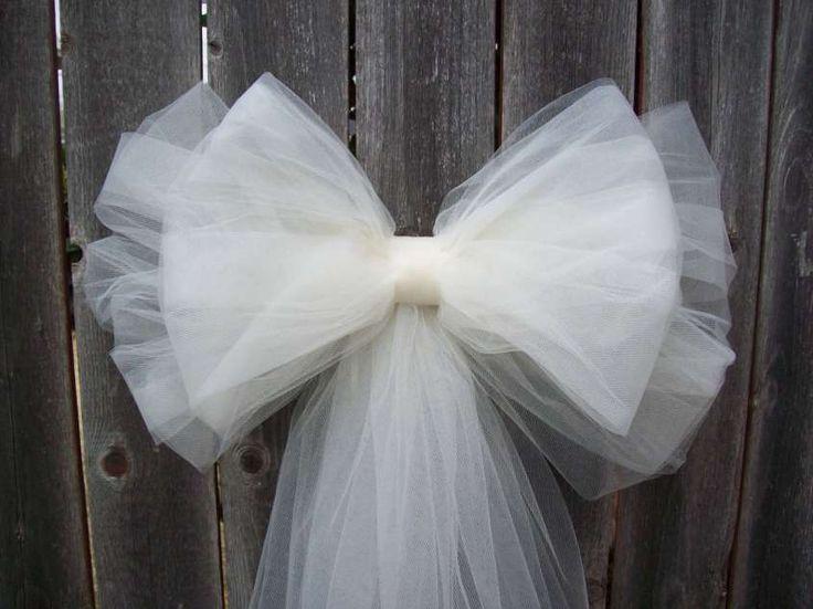 Decorazioni per il matrimonio in tulle - Fiocco in tulle