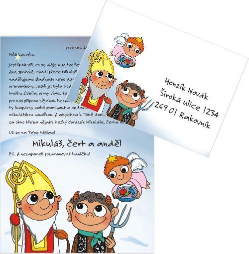 Mikuláš, čert a anděl 2012 - Pošta pro děti. Více informací na www.postaprodeti.cz