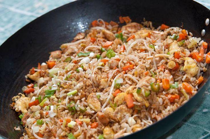 Como hacer arroz chino. Receta