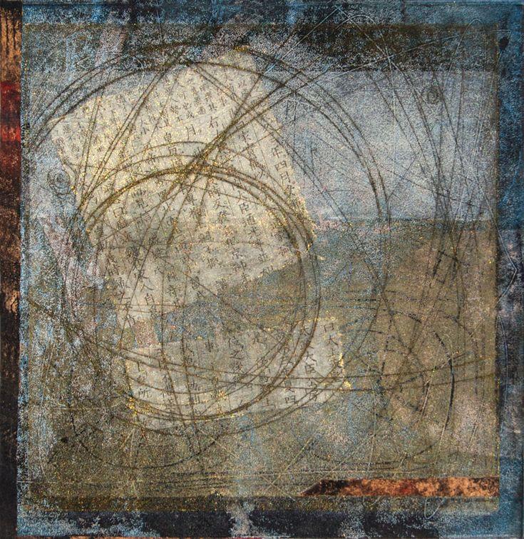 "journey Inward  New Work, 10"" x 10"" block  http://www.annesprints.com/print/Journey_Inward"