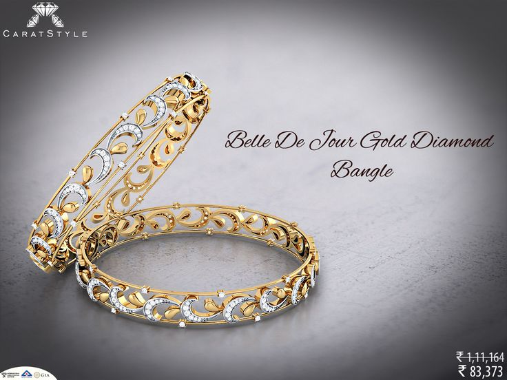 If you can't stop thinking about it...buy it.  #diamond #bangle #diamondbangle #goldbangle #thinbangle #broadbangle #bangleonlineshopping