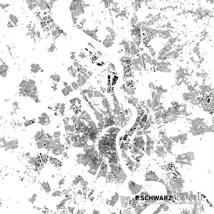 Schwarzplan von Köln #Köln #CGN #Cologne #schwarzplan #lageplan #map #plan #stadtplan