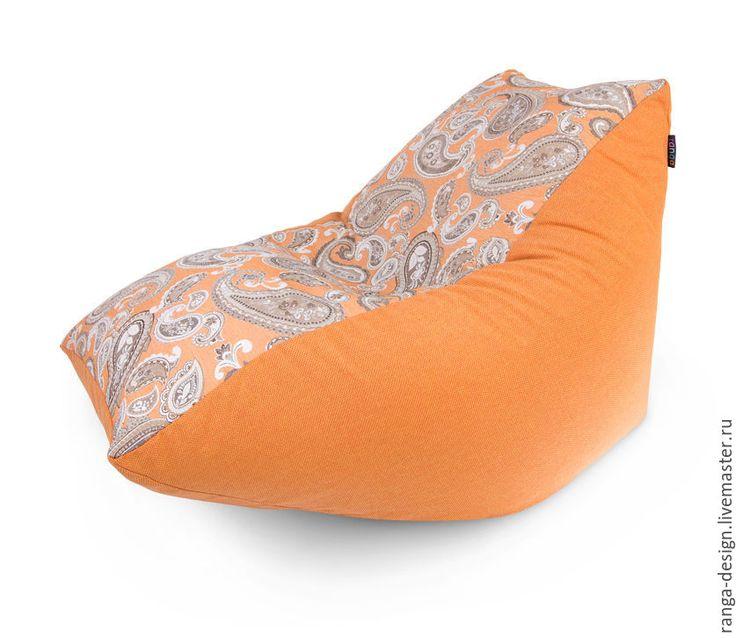 Купить Кресло-пуфик Orangine Pie - оранжевый, кресло, кресло-мешок, кресло мешок, пуфик