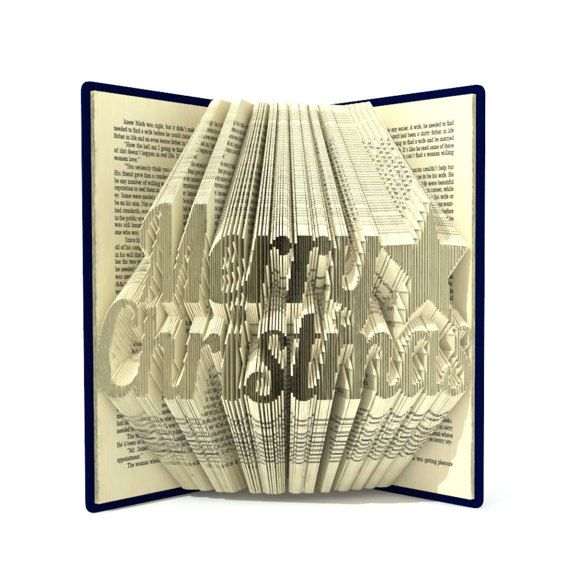 Book folding pattern MERRY CHRISTMAS 395 by SimplexBookFolding