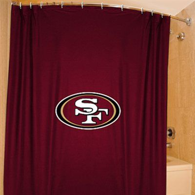 San Francisco 49ers Scarlet 72'' x 72'' Shower Curtain