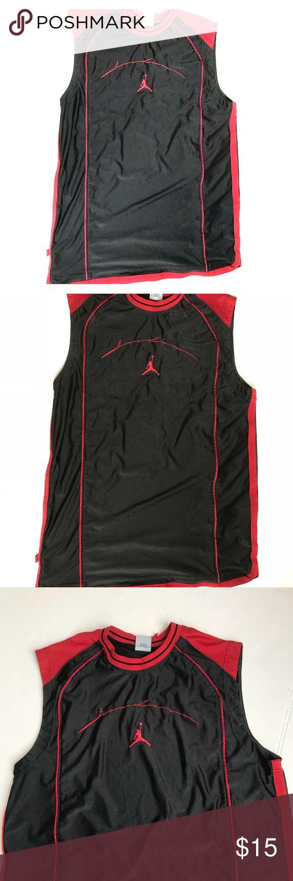 "Michael Jordan basketball jersey sz L Small tear on neck  Please review photos  32"" L 21.5"" pit to pit 46"" waist Jordan Shirts"