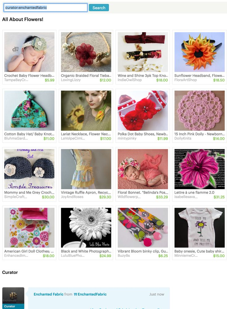 All About Flowers - Etsy Treasury by EnchantedFabric.Etsy.com