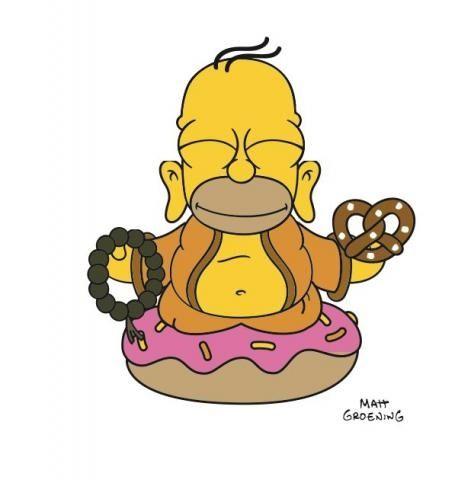 The Buddha Homer (Regular Colored Edition) / Виниловые игрушки / Всё о дизайнерских виниловых игрушках - Vinyltoys.kz