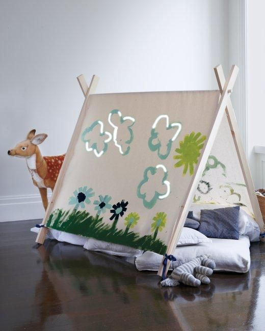 Art House How-to - perfect kids' indoor hideout:
