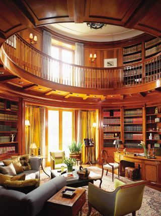 Traditional Office/Library by Katherine Newman and Peter Cebulak in Toronto, Canada