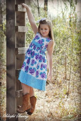 Christmas Frock with Head Band, Carolyn Summer Dress (Pdf Sewing pattern for Girls) #sewing #pattern #girls #summer #dress #girl #kids #children #frock #stitching #pdf  #pattern #sewing #tutorial #howto #diy #craft #joanns