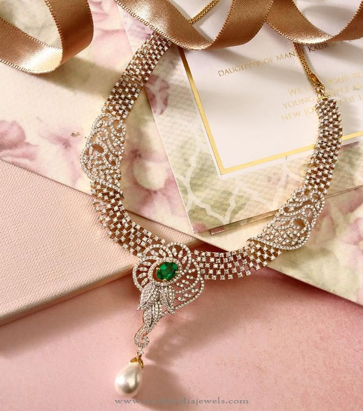 Indian Diamond Necklace Sets, Indian Diamond Necklace Designs, Indian Diamond Necklace Images.