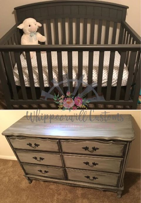 Kayla Waters Dean Used Gravel Road On The Crib And Manatee Grey With Black  Glaze On