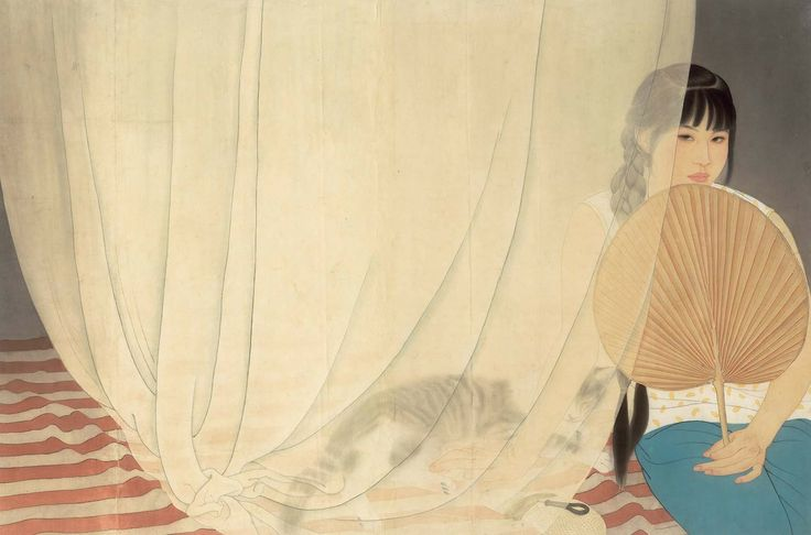He Jiaying (b1957) entered the Tianjin Institute of Arts to study traditional Chinese painting when he was 20; after graduating he started teaching at his school.