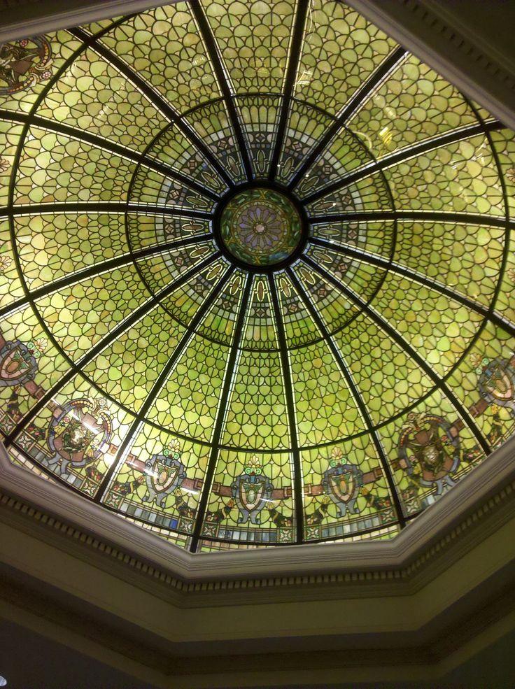 Daniel Stowe Botanical Gardens - Dome with stained glass.  Photo:  Wanda S. Horton