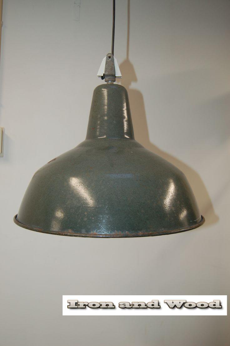 Groene Emaille Industriele Lamp Industrie Fabriekslamp Voor Meer Oude Fabriekslampen Industrile