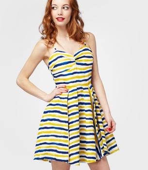 BB Dakota Lund Dress-   Blue and Gold? lol