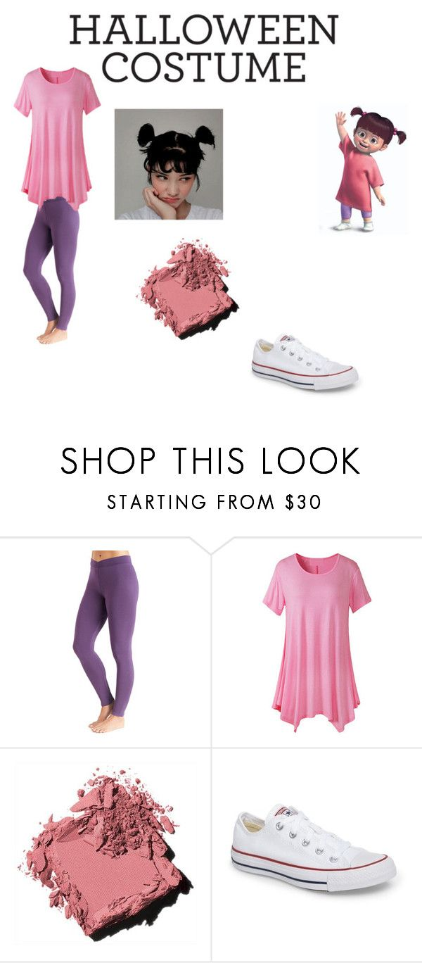 """Boo From Monsters Inc."" by thickgirllife ❤ liked on Polyvore featuring Cuddl Duds, Bobbi Brown Cosmetics and Converse"