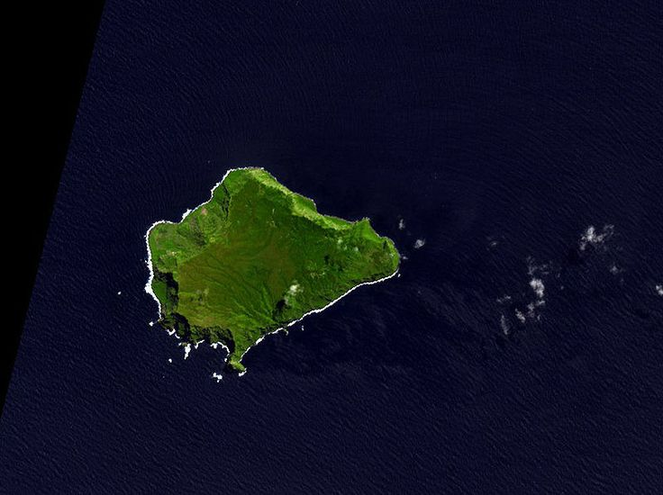 NASA Terra ASTER image of Inaccessible Island