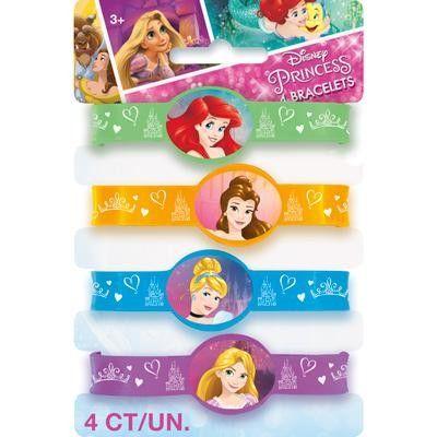 4 Bracelets en silicone Disney Princess - Castello | Jeux et Jouets