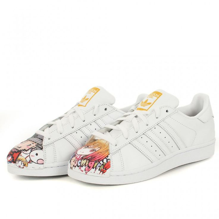 adidas Originals Superstar White Mr. Painted Pharrell Williams Mens Shoes