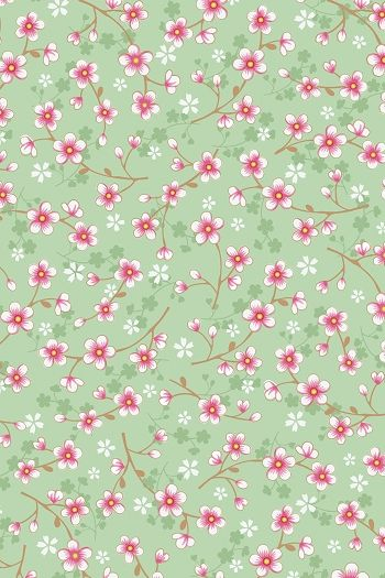 PiP Cherry Blossom Green wallpaper