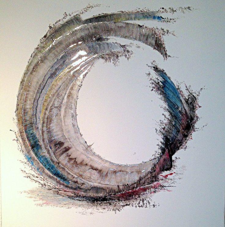 JUST TO BE (Peinture), 120x120 cm par Cel Ine Peinture celine Guiberteau - technique mixte sur toile de lin. Fluidité - La vie est fragile et belle Toile peinture abstraite Céline Guiberteau fluidité