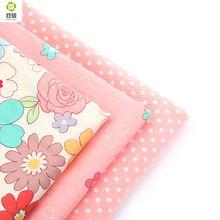 Tessuto di cotone tessuto patchwork per cucire materiale fatto in casa per il panno bambola pannello esterno del vestito a righe fiore 40x50 cm A2-3-1(Hong Kong)