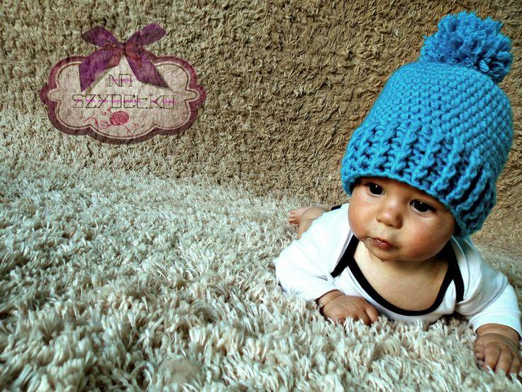 naszydełku.pl - photo props akcesoria dla dzieci do sesji foto, zabawki. dodatki- czapki, kominy... : Czapka MINI POM-POM - Akcesoria odzieżowe. Cena: 4...