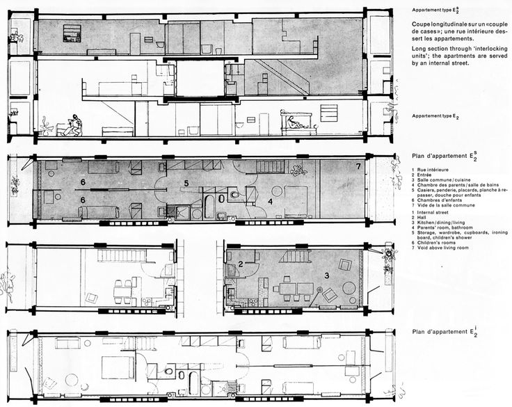 plan appartement corbusier