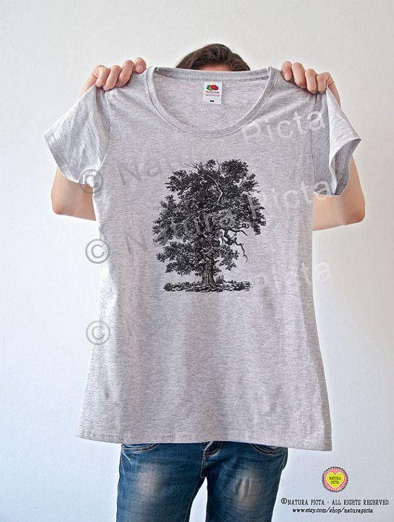 Majestic oak tree T-shirt-Vintage Oak tree tees-oak by naturapicta