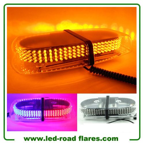 240 LEDs Car Auto Rooftop Flashing Strobe Emergency Vehicle Warning Police Lights Bars Shell Yellow Amber