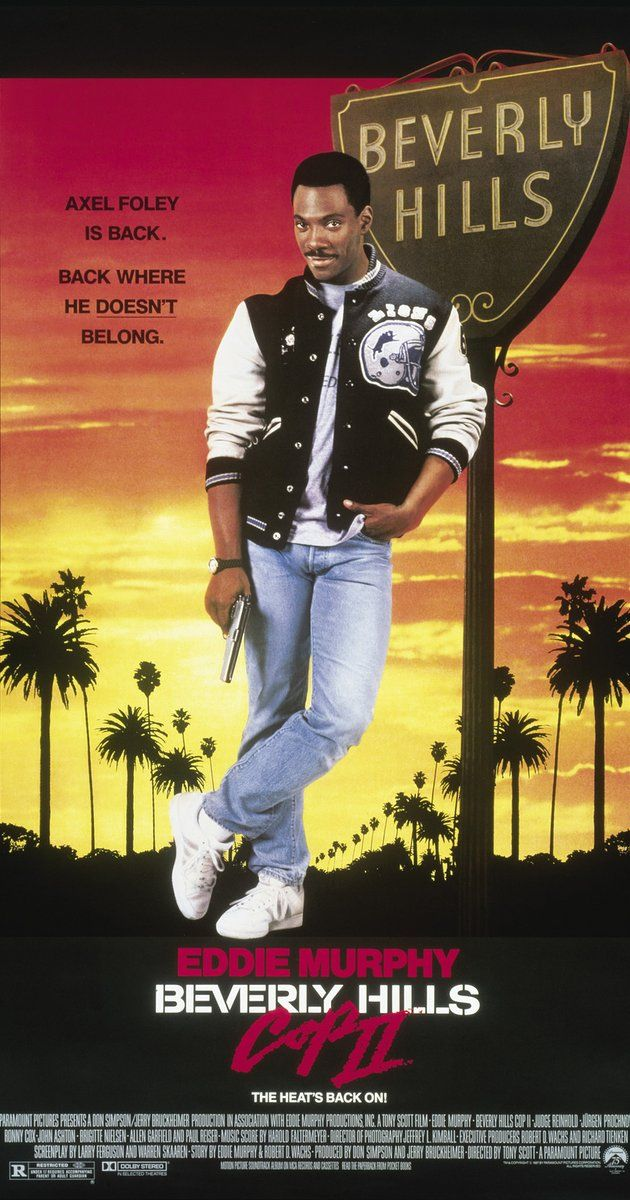 "Beverly Hills Cop II. Directed by Tony Scott.  With Eddie Murphy, Judge Reinhold, Jürgen Prochnow, Ronny Cox. Axel Foley returns to Beverly Hills to help Taggart and Rosewood investigate Chief Bogomil's near-fatal shooting and the series of ""alphabet crimes"" associated with it."