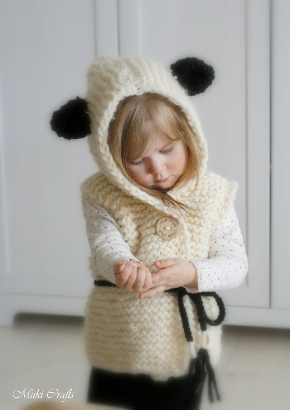 KNITTING PATTERN hooded cardigan Sheep Sheridan by MukiCrafts